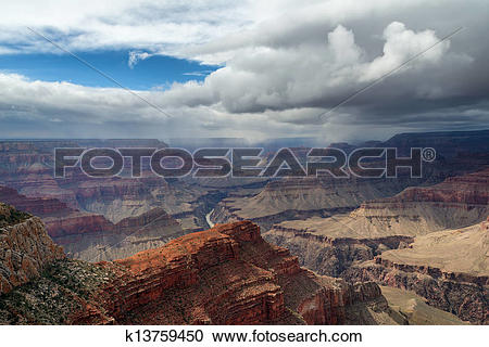Stock Photography of The Grand Canyon Before The Storm k13759450.