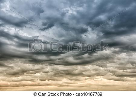 Pictures of Dramatic sky before storm.