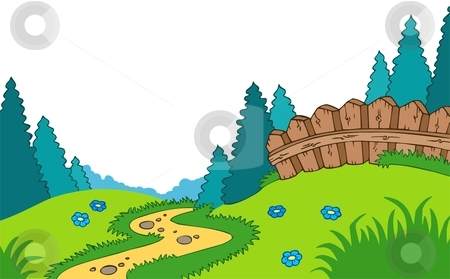 Landscaping Cartoon Clipart.