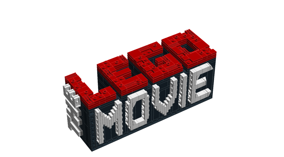 The Lego Movie logo designed in scale a bit smaller than the.