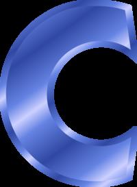 Alphabet Letter C.