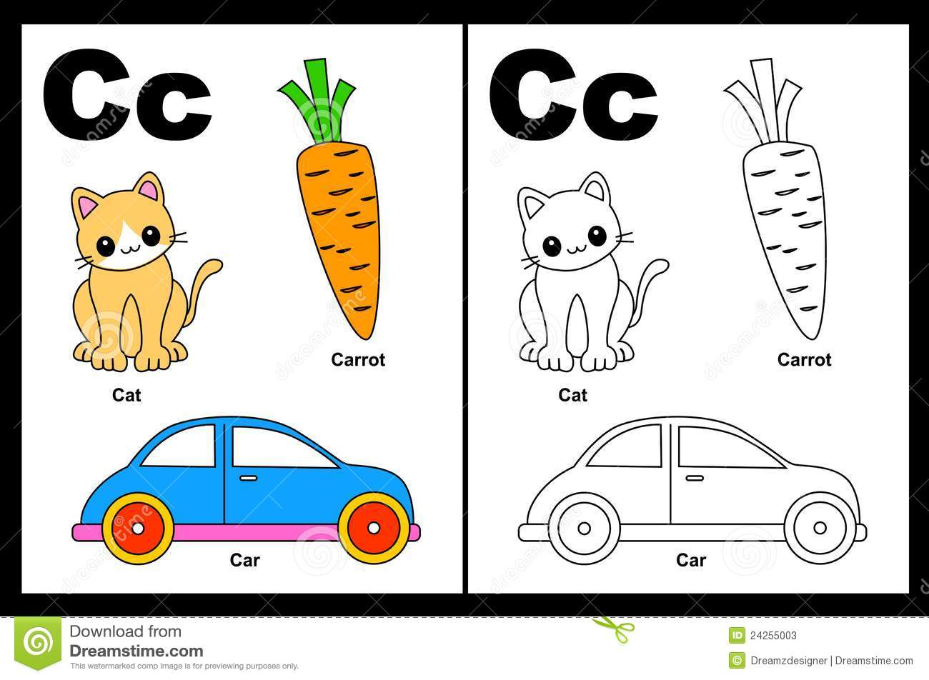 Letter C Worksheet Stock Photos.