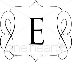 Classic Monogram C Clipart.