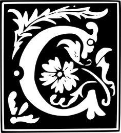 Letter C Monogram clip art.