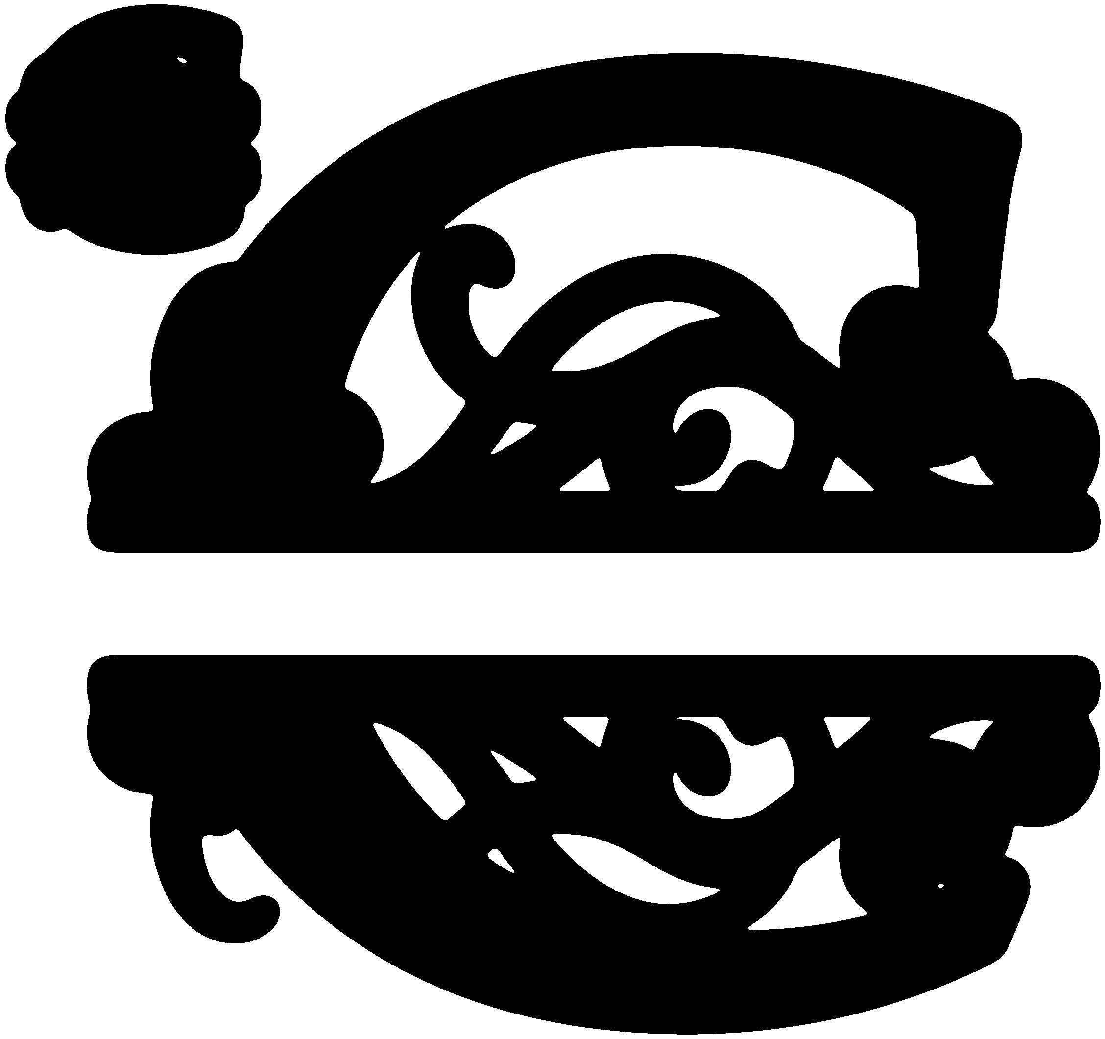The Letter C Monogram Clipart.