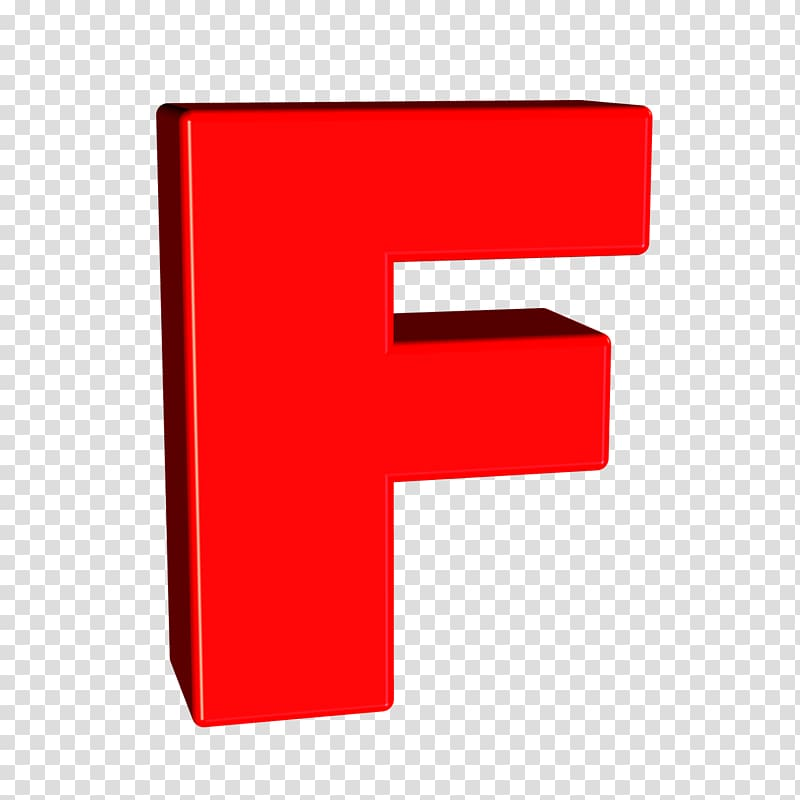 Letter F Alphabet Sort, letters 3d transparent background.