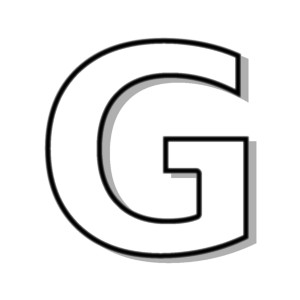 Letter G Clipart Black And White.