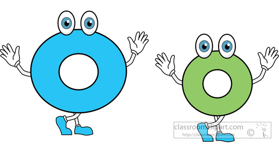 Lower case letter o clipart.