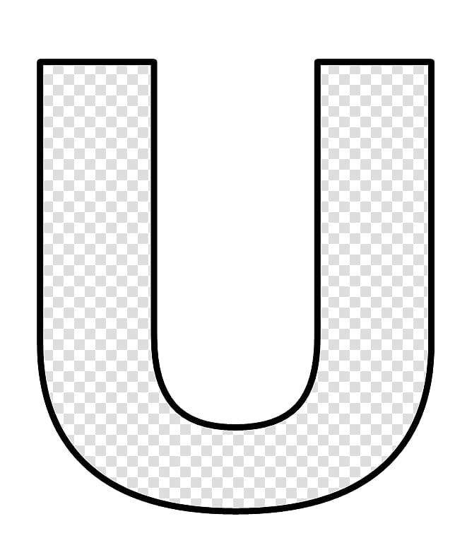 Moldes, letter u illustration transparent background PNG.