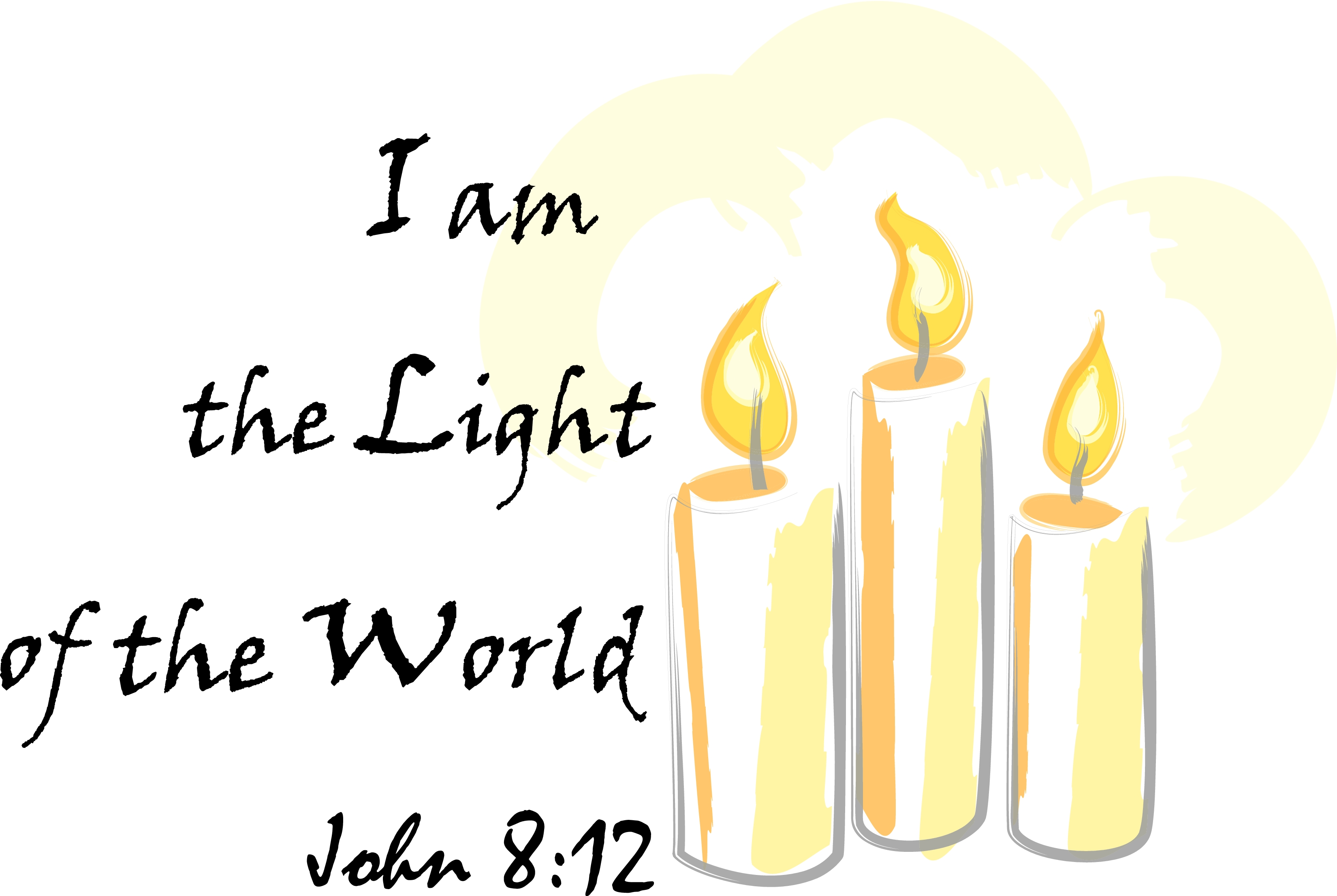 I Am The Light Of The World Clipart.