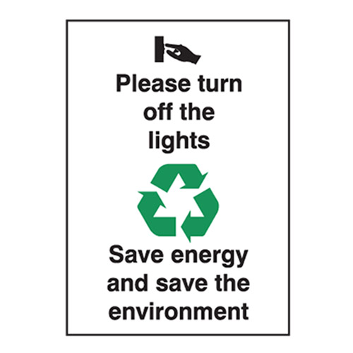 Turn Off The Lights Save Energy And Save The Environment Please.