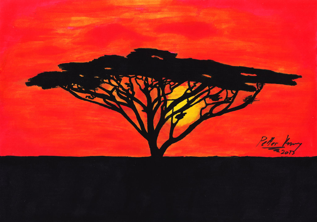 Lion King Silhouette Tree.
