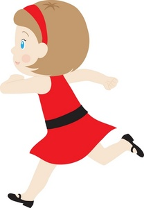 Little Girl Running Clipart.