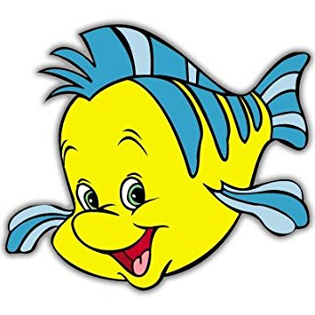 Images Of Flounder From The Little Mermaid.