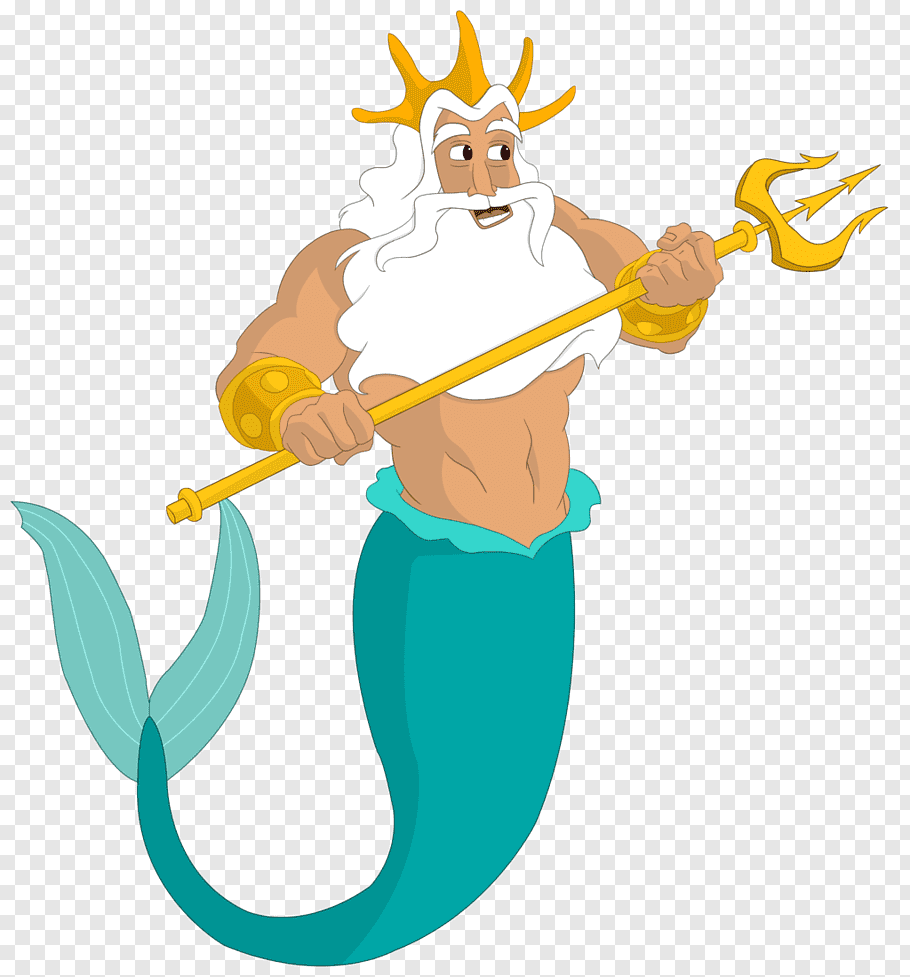 Disney King Triton illustration, King Triton Ariel The.