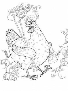 The little red hen coloring pages.
