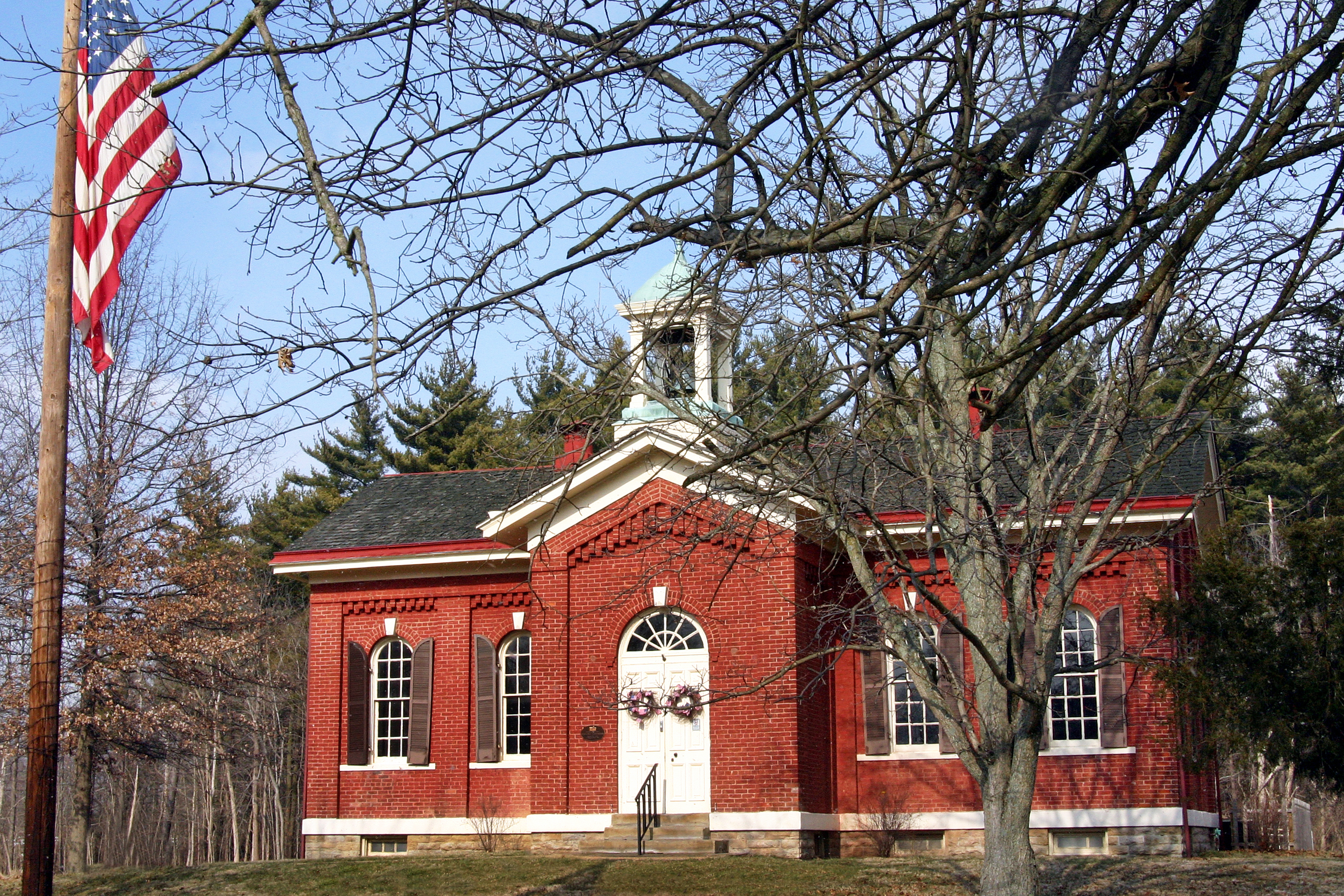 "Washington Heights School ~ ""The Little Red Schoolhouse""."