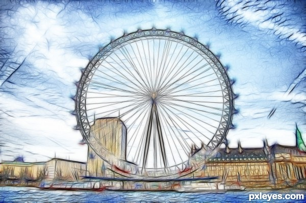 London Eye Clipart.