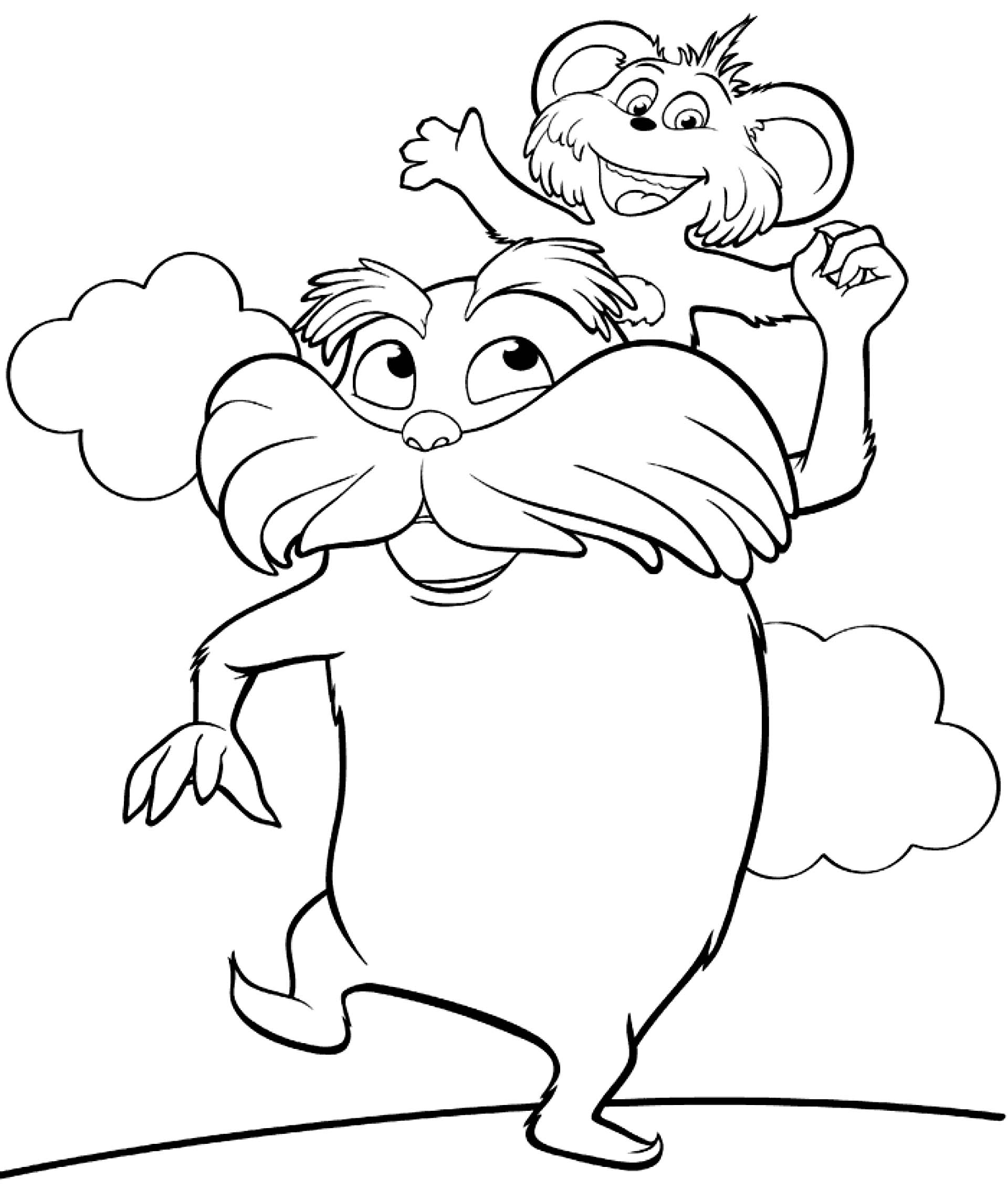 Lorax characters clipart.