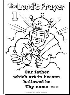 Our Father colouring page.