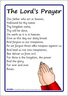 112 Best The Lord\'s Prayer for Children images.