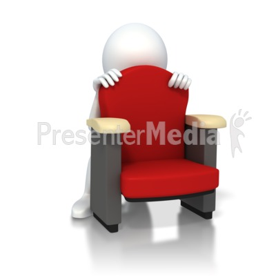 The Man Is Behind The Chair Clipart.