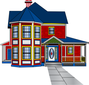 The House Is Behind The Car Clipart.