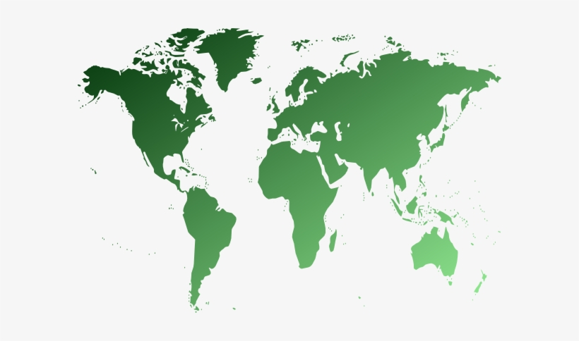 Map Clipart Green World.