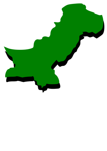 Green Pakistan map.