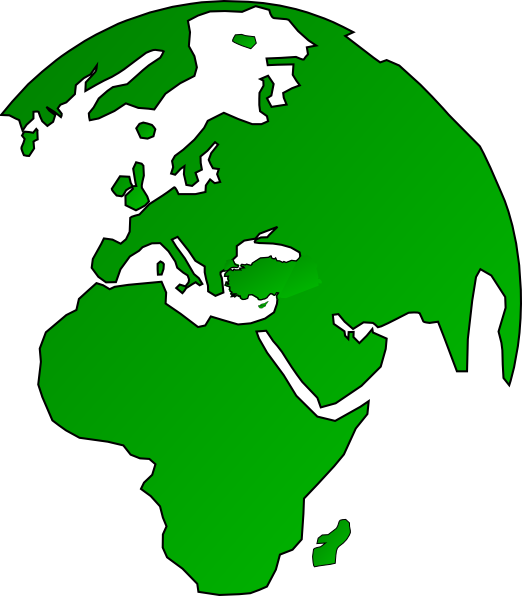 African Globe Map Green Clip Art at Clker.com.