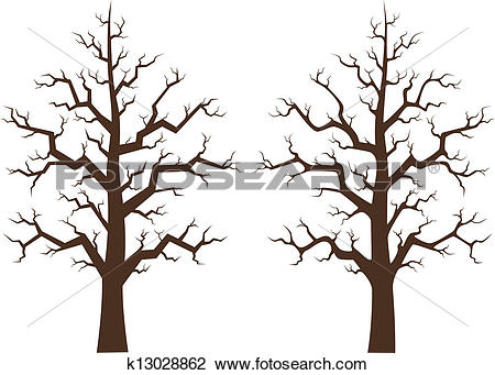 Clipart of Maple tree two draft, illustration k13028862.