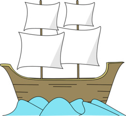 Mayflower clipart.