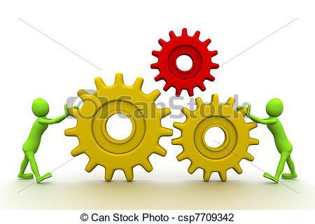 Clip Art of The main part of mechanism.