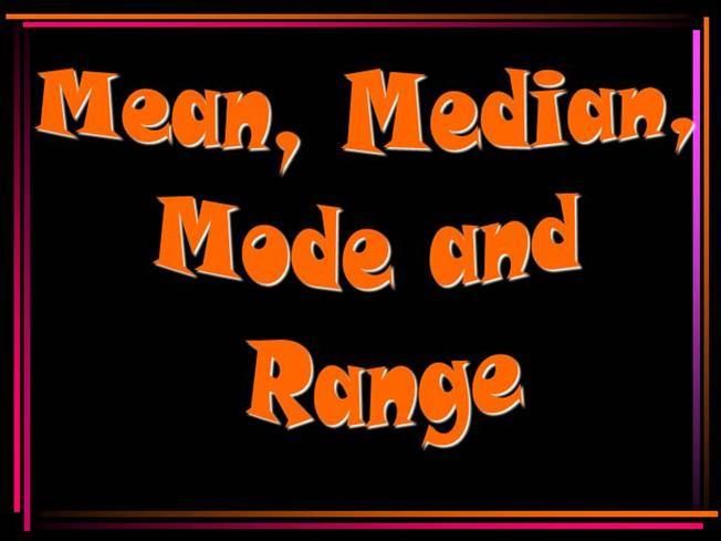 Mean Median Mode Clip Art.