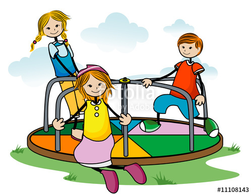 Merry Go Round Playground Clipart.