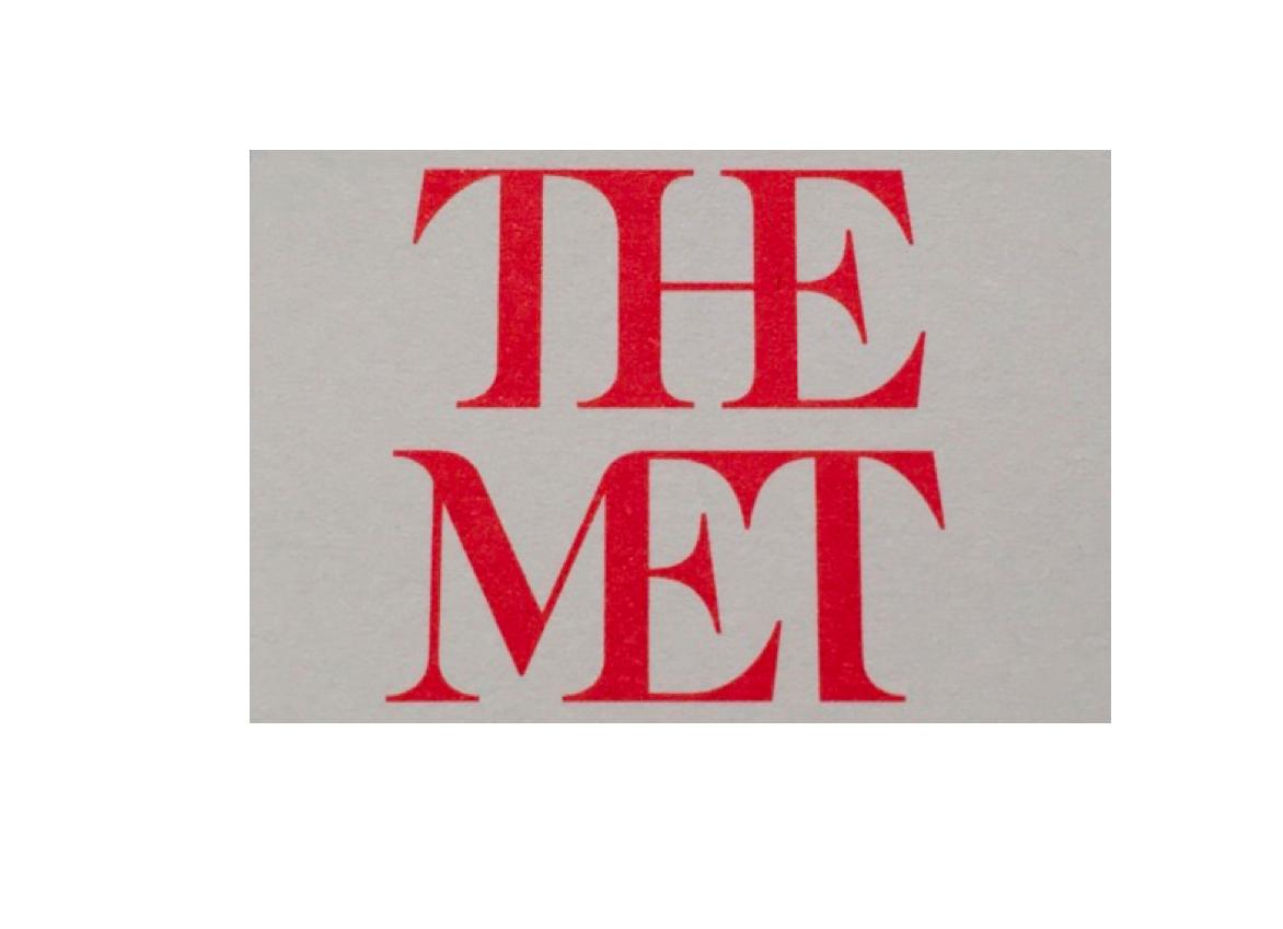 The new MET logo: not a very promising exhibit so far.