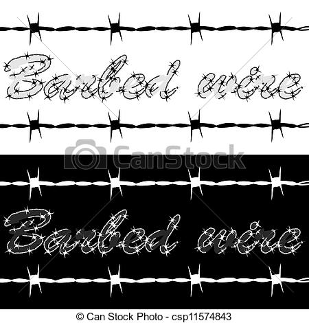 EPS Vector of Barbed wire.