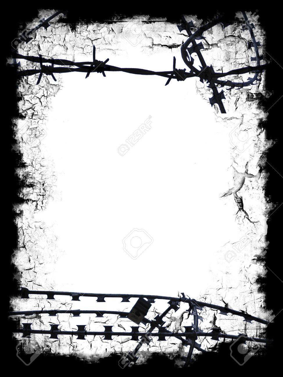 Razor Wire Border.