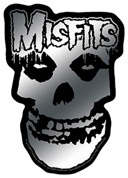 Licenses Products Misfits Logo and Skull Sticker, Chrome.