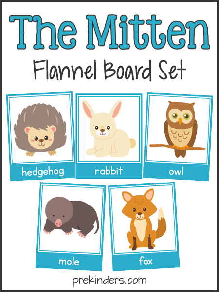 The Mitten: Story Sequencing & Flannel Board Cards.