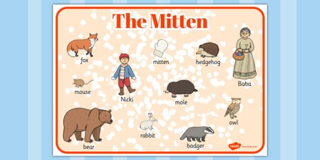The Mitten Word Mat.