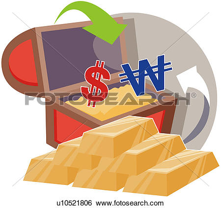 Clip Art of finance, monetary, dollar, won currency, ancient and.