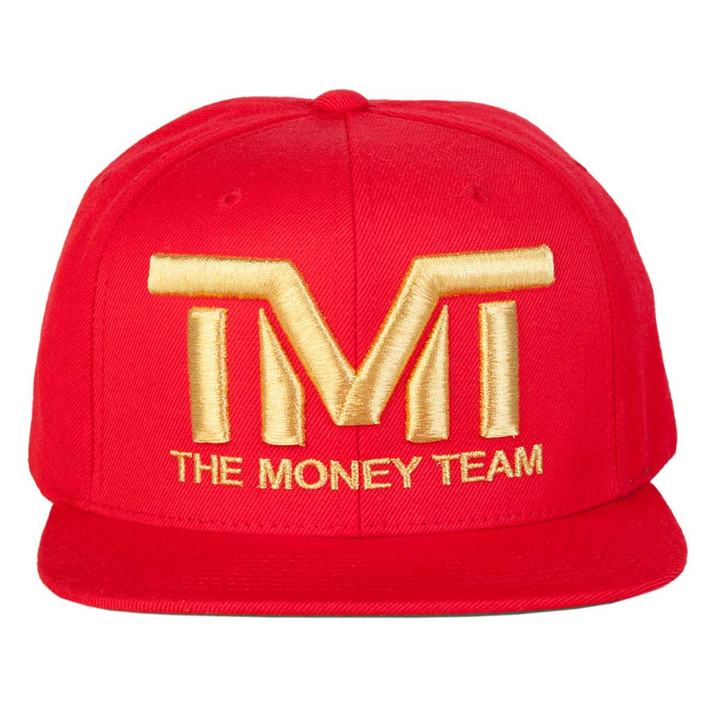 THE MONEY TEAM the money team COURTSIDE cap gold logo & red base embroidery  Floyd May weather youth boxing Floyd Mayweather WBA WBC money title winner.