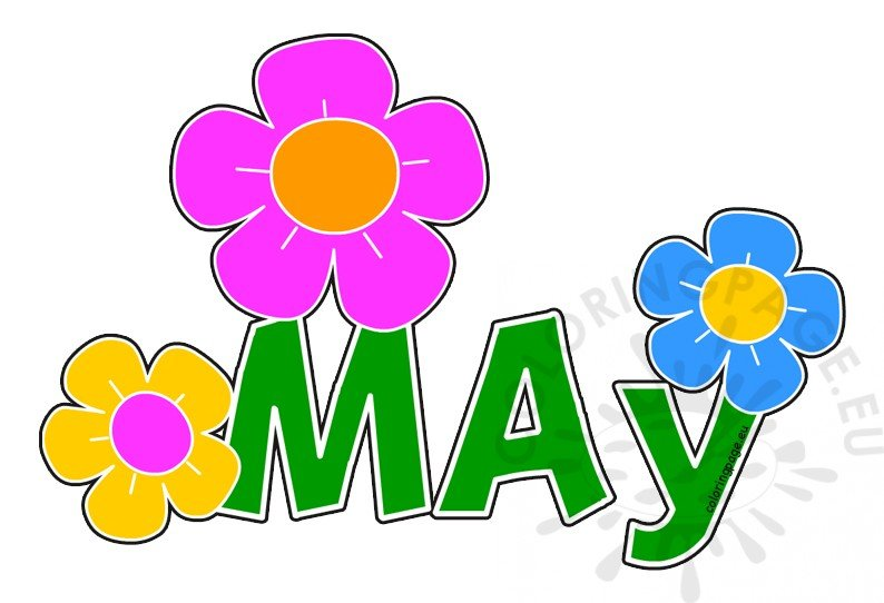 Clip Art Month Of May.