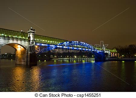 Stock Photography of Foot bridge over the Moscow river. Russia.