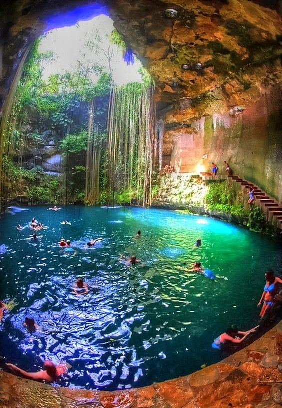 Yucatan Cave Lake situated in Tiger Che in the Yucatan Peninsula.