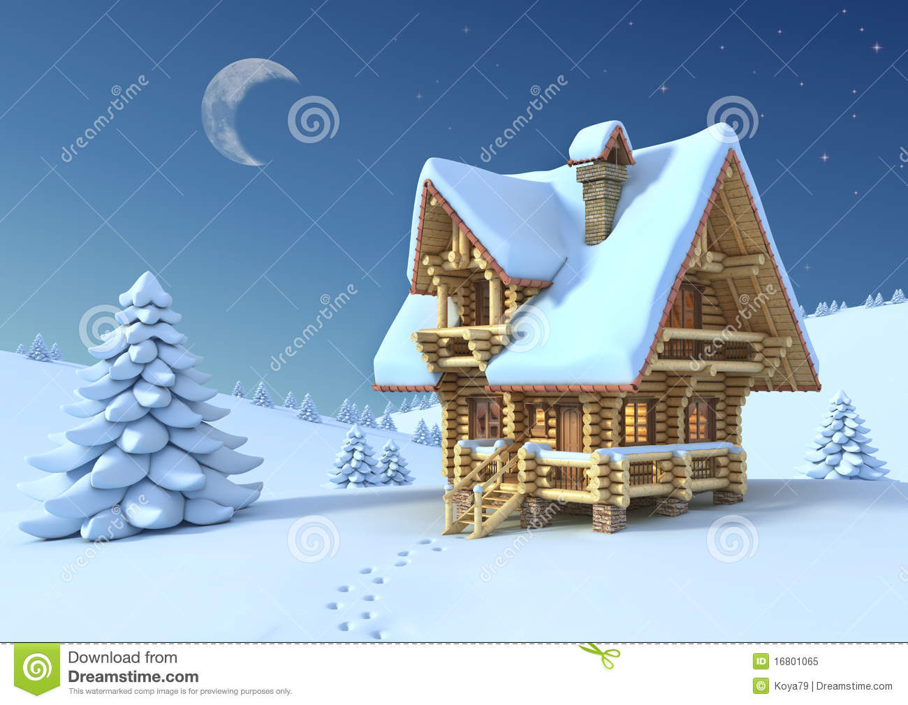 The mountain in winter temple clipart #4