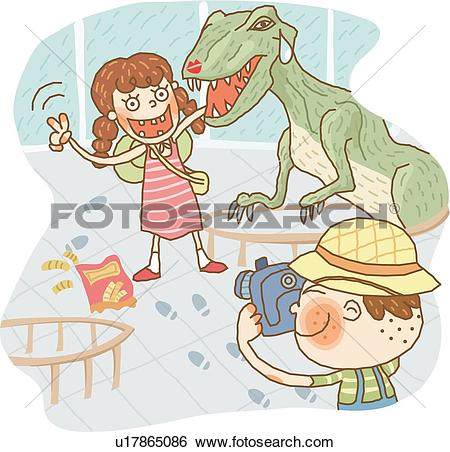 Stock Illustration of Visiting the Museum u17865086.