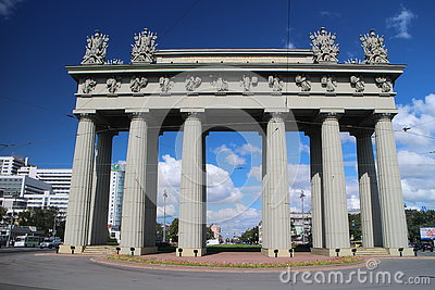 Moscow Triumphal Arch, St. Petersburg, Russia Stock Photo.