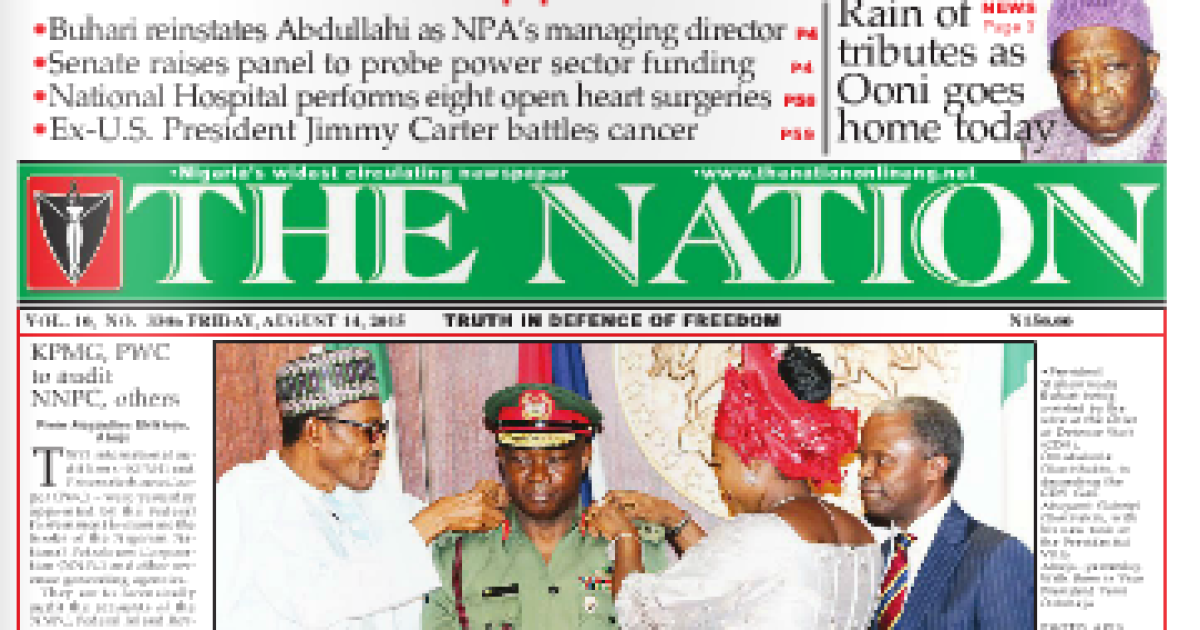 NAIJA NEWSPAPERS: TODAY\'S THE NATION NEWSPAPER HEADLINES [24.